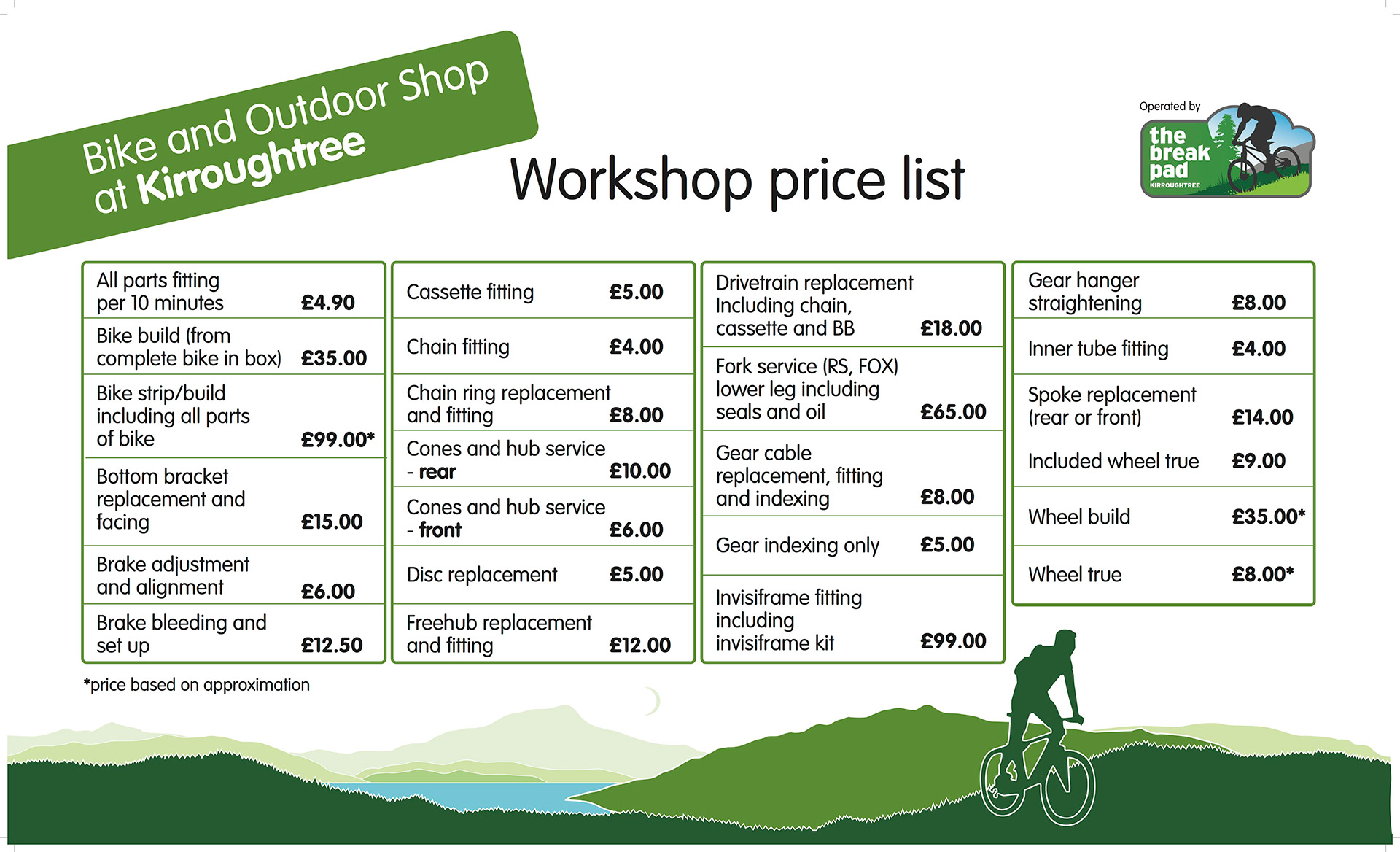 Workshop Prices